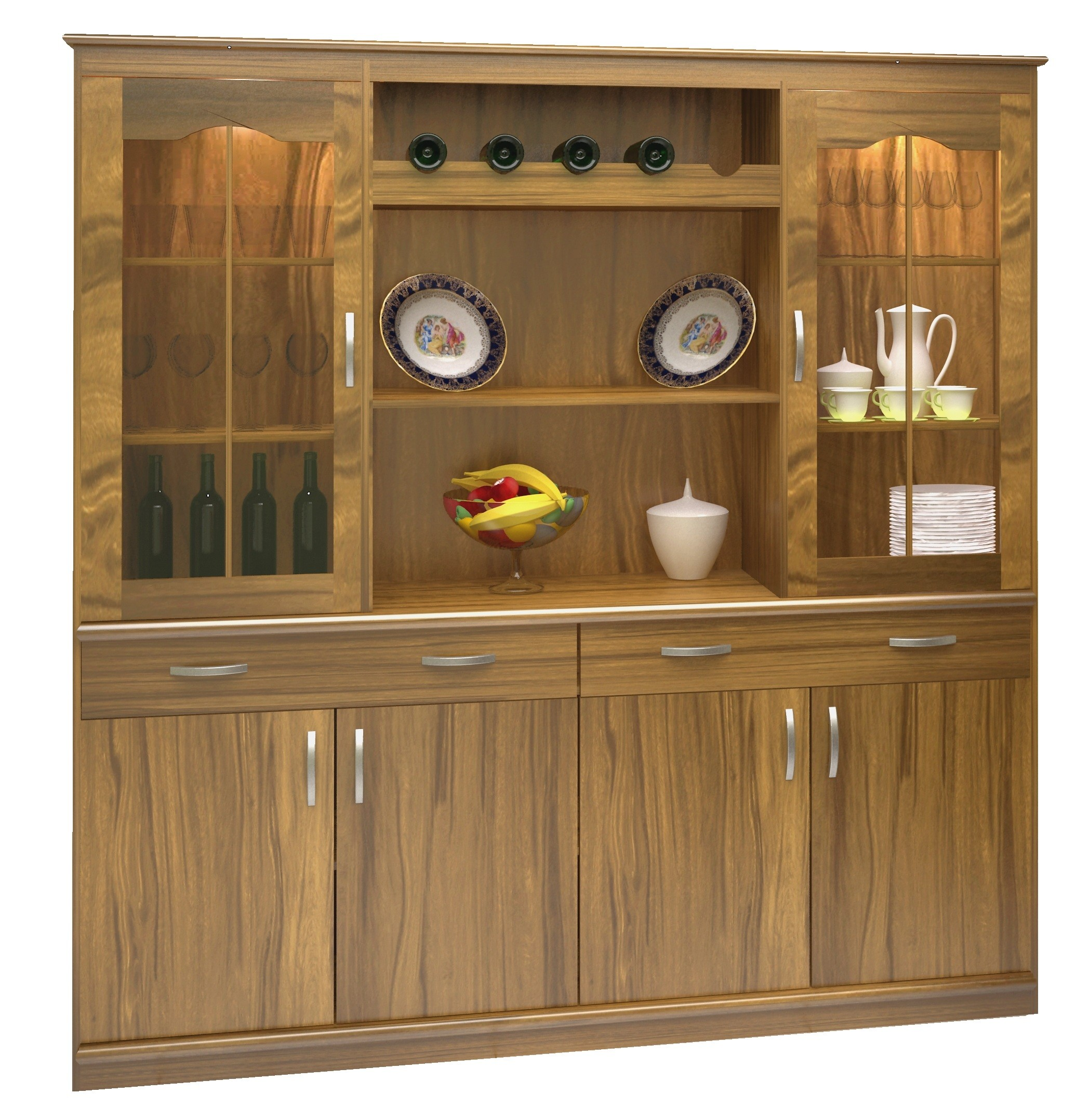 Mueble Living Comedor Roble