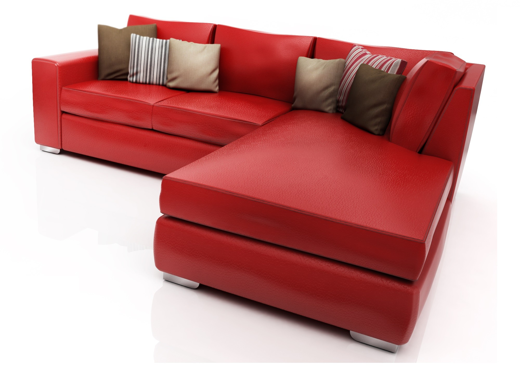 Sofa Luxury Esquinero American Wood [Rojo]