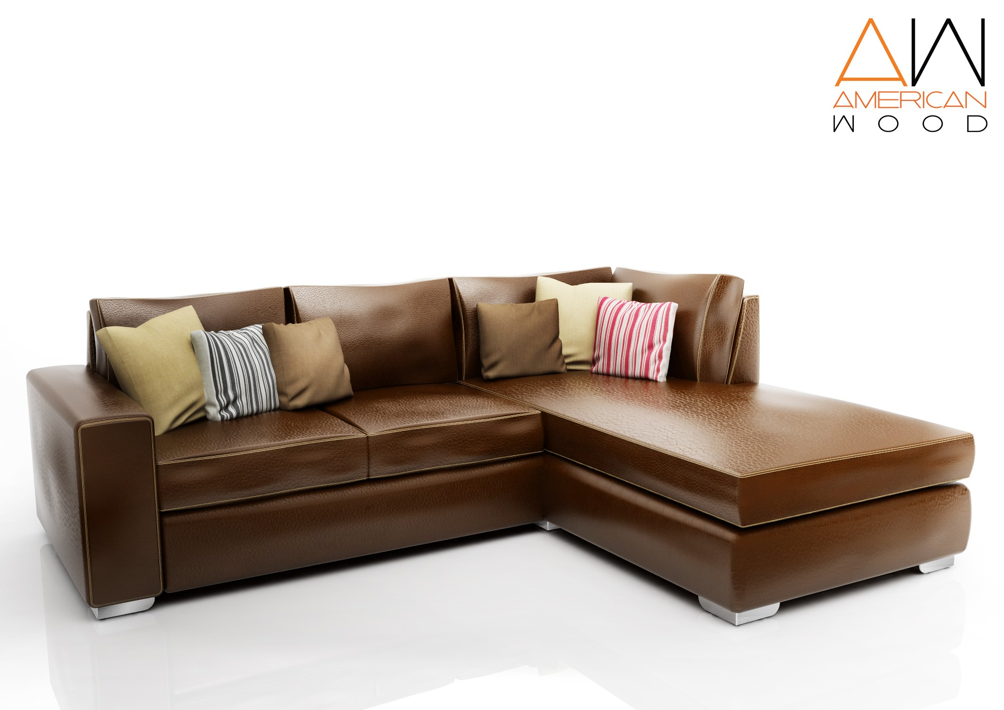 Sofa Concept Esquinero American Wood Chocolate