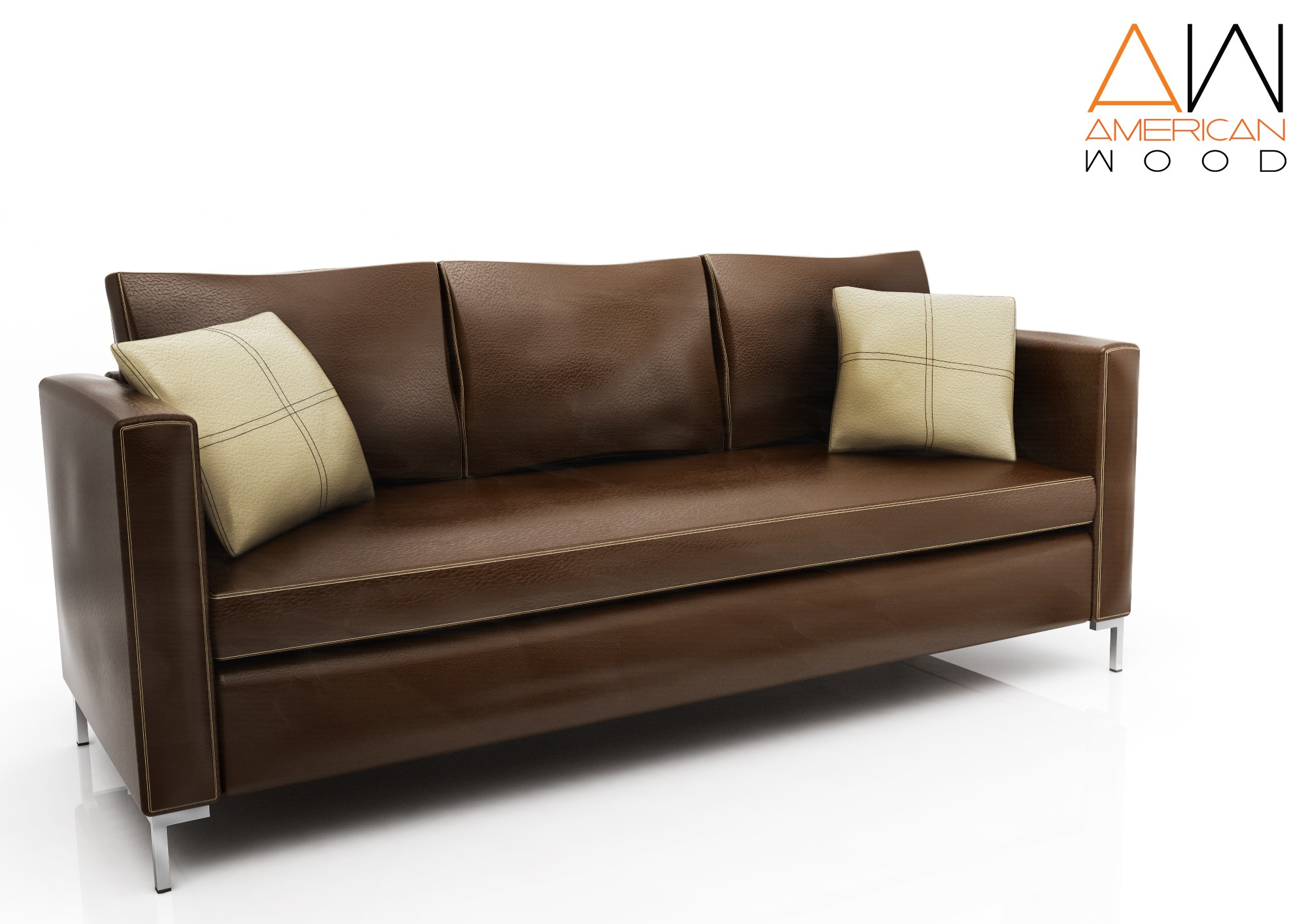 Sofa Venecia 3 cuerpos chocolate