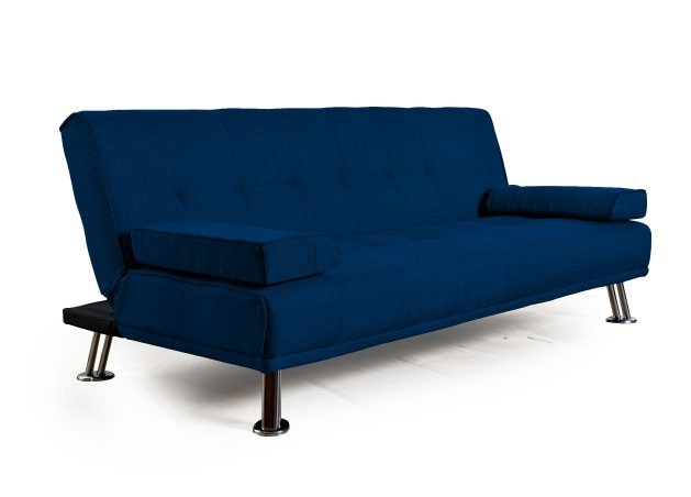 Sillon Futon Cama City Reclinable Azul