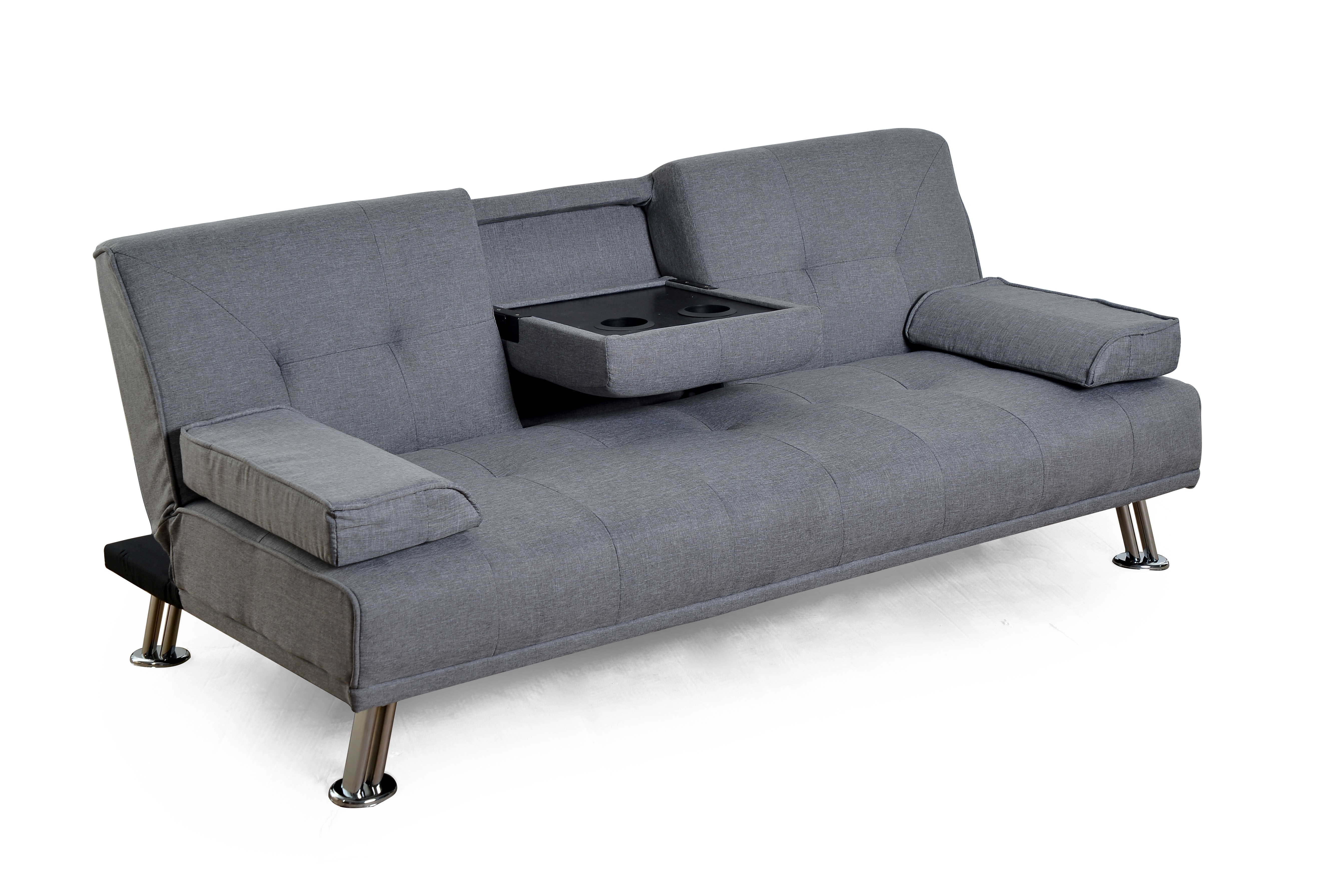 Sillon Futon Cama City Reclinable Gris