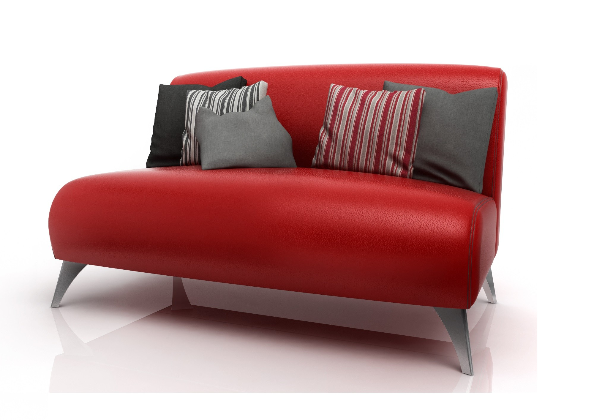 Sofa Paris American Wood Rojo [2208140]