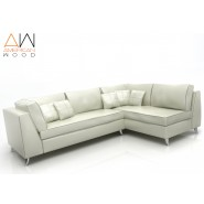 Sofa New Esquinero American Wood Blanco