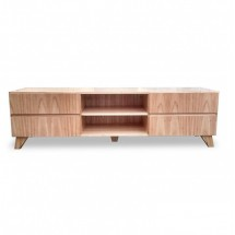 Mesa de TV Nordica Oslo 4 cajones natural 180