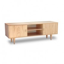 Mesa de TV Nordica Oulu 2 puertas natural 150