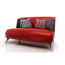 Sillon Sofa Paris 2 cuerpos 120 eco Patas Crom