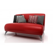 Sofa Paris American Wood Rojo