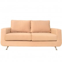 Sillon Sofa 2 Cuerpos Beverly Pana Natural